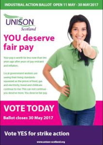 You deserve fair pay. Vote Now!