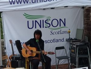 Carol Laula at New Lanark Family Fun Day